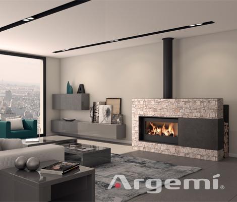 Llar de foc moderna cad pedra argemi prefabricatsargemi - Casete para chimeneas ...