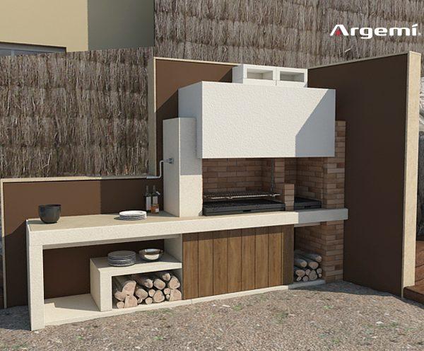 Barcelona delta custom made barbacues argemi - Barbacoas exteriores de obra ...