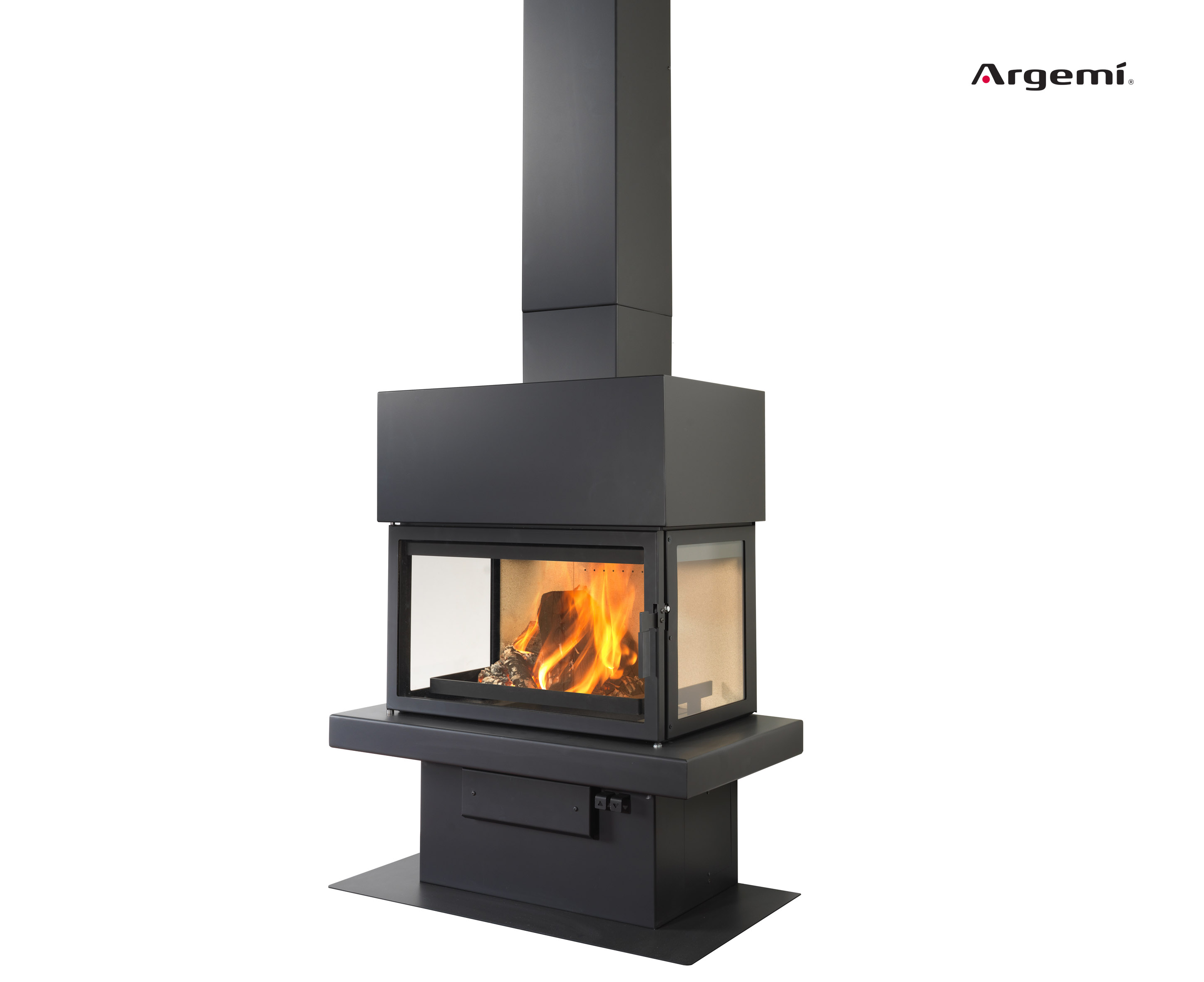 Ll 15 c metal fireplace argemi prefabricatsargemi for Wood stove insert for prefab fireplace
