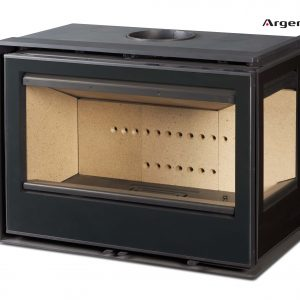 Insert leña Arc 76 Ld vision frontal lateral derecha - insert llenya Arc 76 LD visio frontal lateral