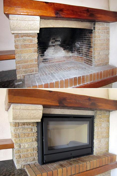 Chimeneas de dise o con recuperador de calor para ahorrar - Adaptar chimenea para calefaccion ...